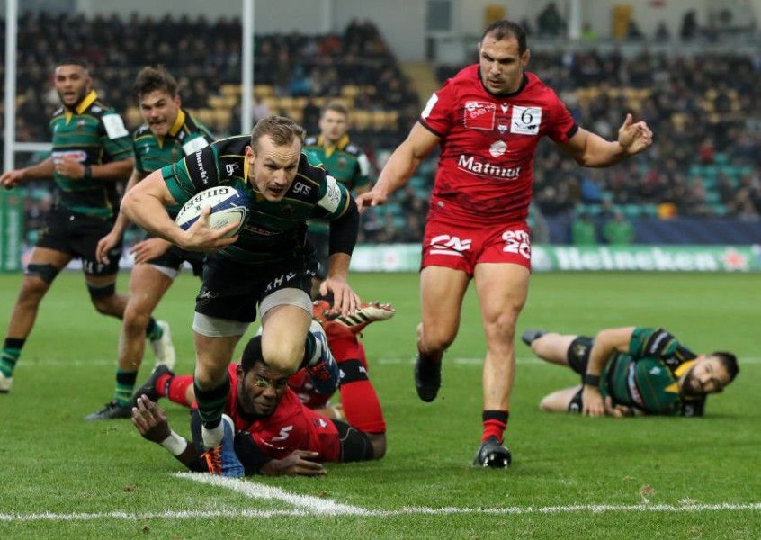 Biggar puts the boot into Lyon as Saints get Champions Cup campaign off to a flying start - Northamptonshire Telegraph