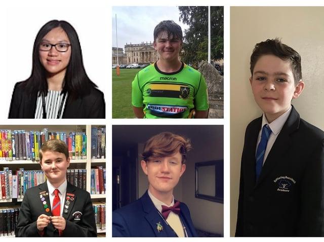 Clockwise, from top left: Dinglian Chen, Conor Napier, Alfredo Brown, Owen Wilson and Matthew Walton.