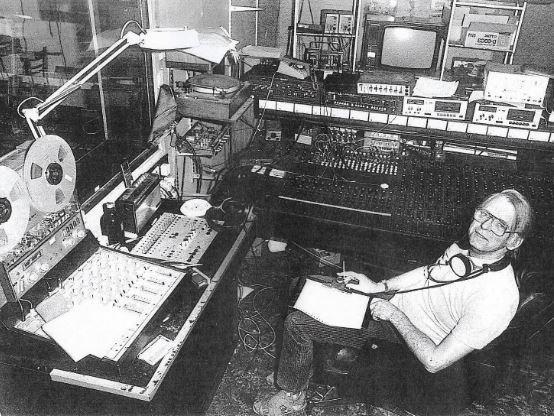 Derek Tompkins in his studio