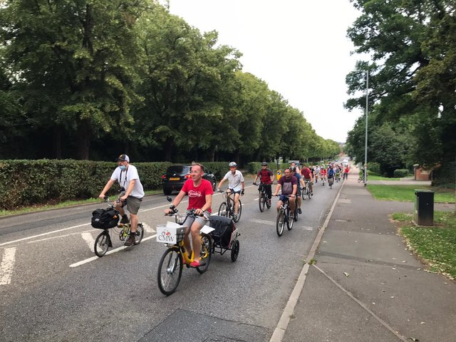 Wellingborough's first Critical Mass took place on Friday evening