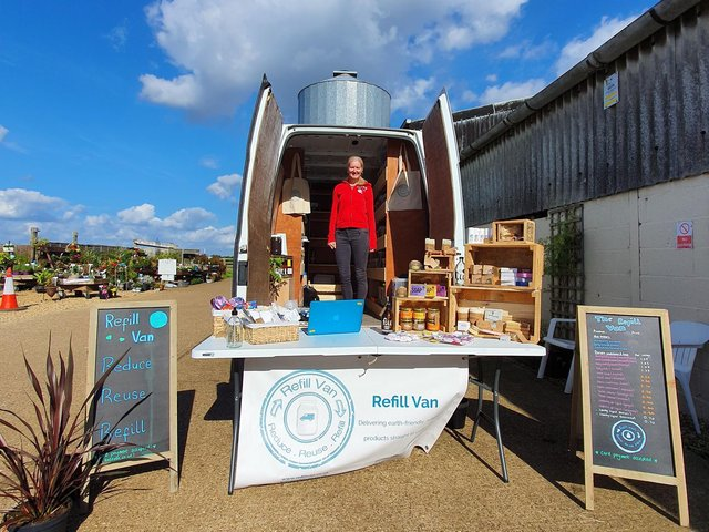 The Refill Van is Northamptonshire's only mobile eco-friendly shopping service