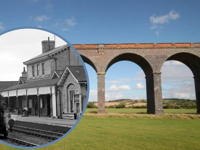 The former South Luffenham station (thanks to John Turner of www.53amodels.co.uk for use of this photo) and Harringworth Viaduct