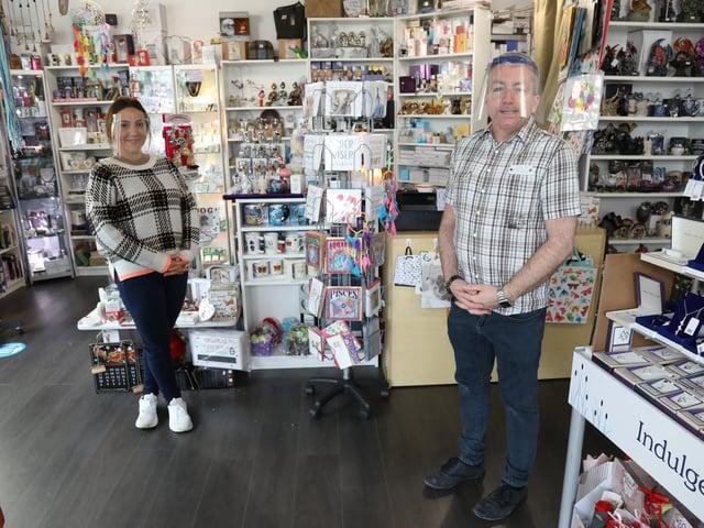 l-r Anita (sales assistant) and Brian Marsh