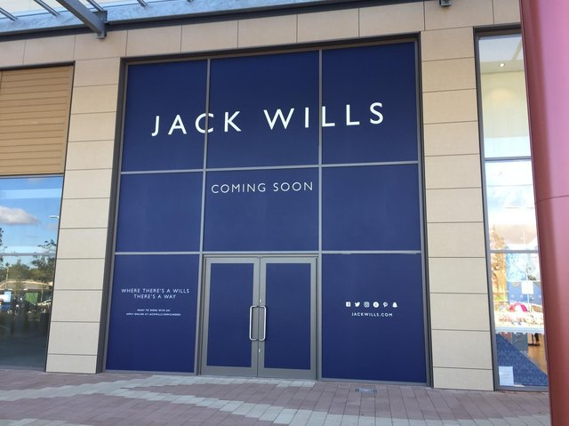 The Jack Wills store before it officially opened at Rushden Lakes