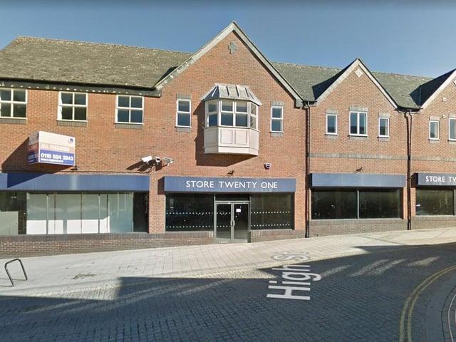 The former Store Twenty One unit in Rushden High Street
