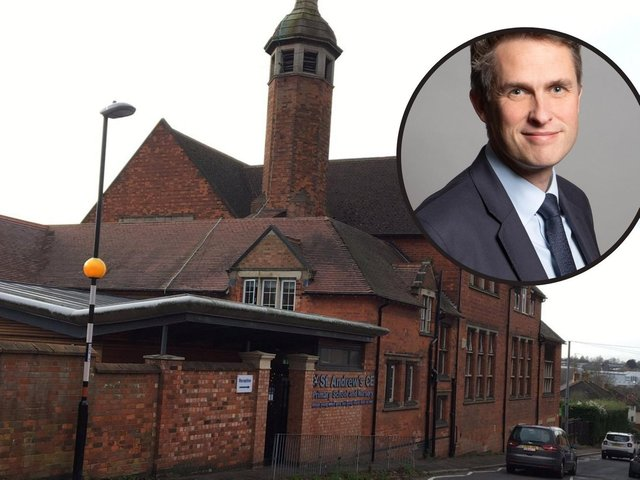 Head of St Andrews Primary Ben Ansell said he supported his staffs decision to defy Education Secretary Gavin Williamsons (inset) orders to keep schools open.