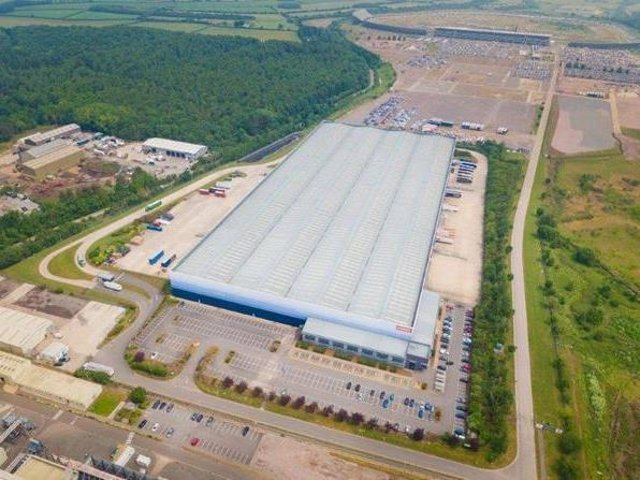 Staples UK logistics centre in Corby