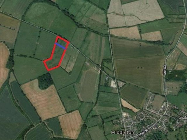 The site is about 1km from Middleton on Peasdale Hill Field