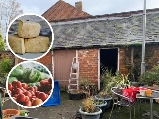 This barn is being converted into a new family-run shop.
