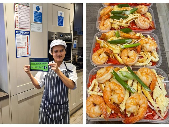 Dara in the kitchen and a Royal Thai Kitchen dish