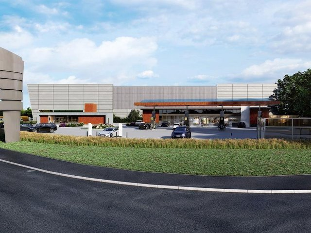 This image shows how the new service station, which is opening later this week, will look