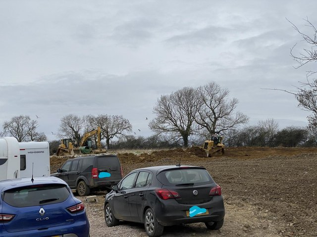 Work taking place on the land