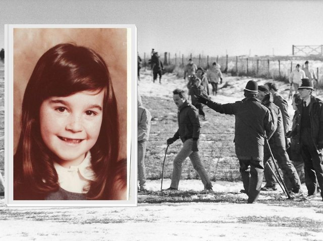 Hundreds of people from Corby searched for Collette Gallacher, six, for five long days and nights. Image: JPI Media.