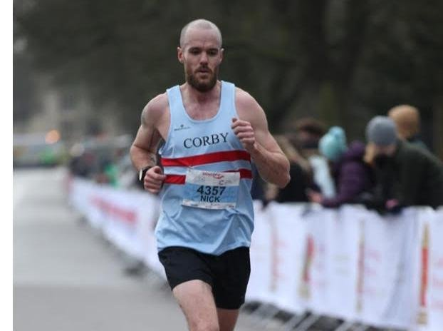 Paul ran for Corby Town Athletics Club