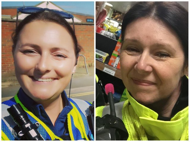 CI Julie Meads (right) and PCSO Nadia Norman have been at the forefront of Northants' fight against domestic abuse