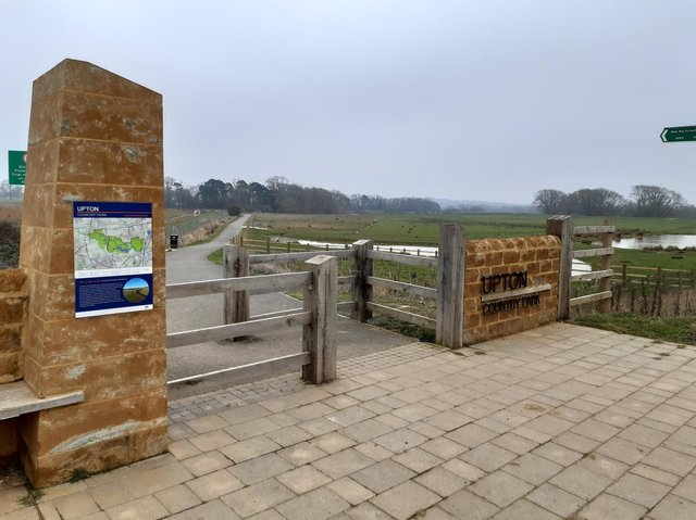 The incident happened about a mile up the footpath from this entrance point at Upton Country Park