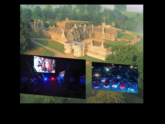 Rockingham Castle will host a bank holiday weekend of drive-in movies