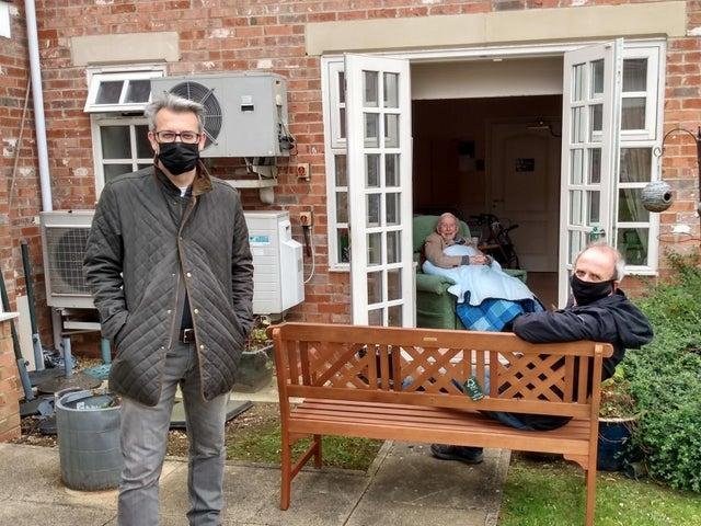 Care home visitation will be allowed in care homes starting Monday under new guidance.File photo from July 2020, Chapel Bramptom Care Home.