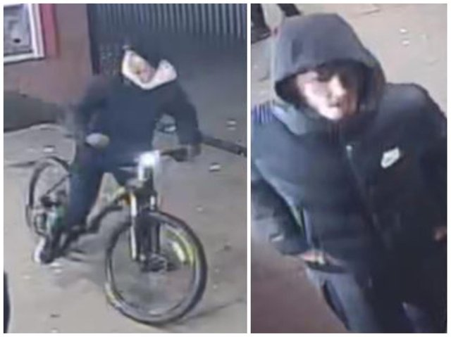 Officers want to speak to four males seen in the area at the time of the incident on February 7