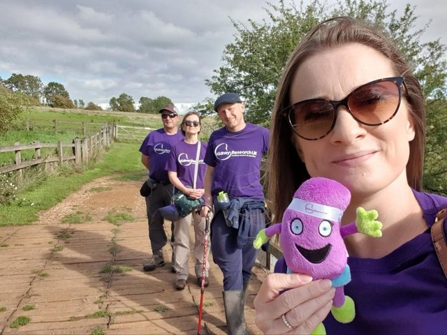 Kathryn (front) is a Kidney Research ambassador.