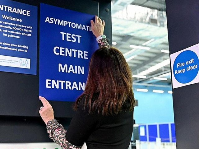 Wellingborough's new rapid test centre is targeting those carrying the virus but do not have symptoms. Phone: Getty Images