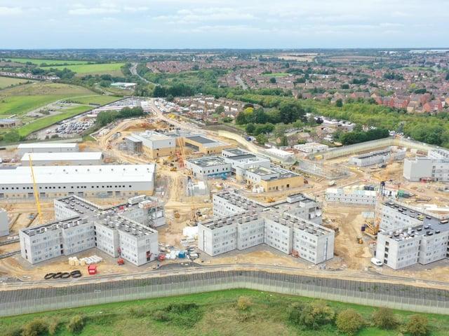 An aerial shot of Wellingborough's HMP Five Wells (taken last September)