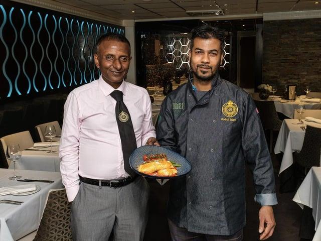 Manager at Saffron, Rana Rahman, with executive chef, Bodrul Islam.