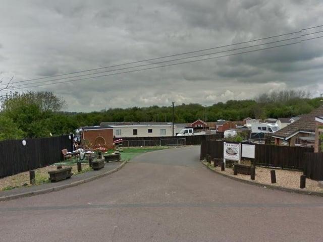 The caravan park in Gipsy Lane.