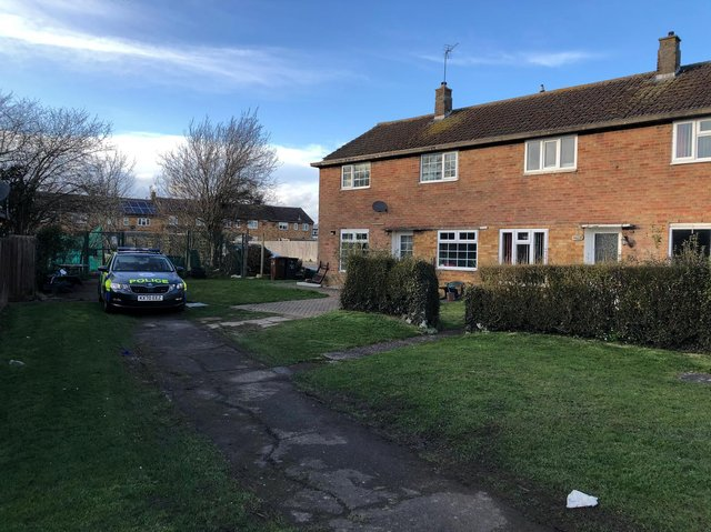 The semi-detached house is in a quiet area of Corby. Image: JPI Media.