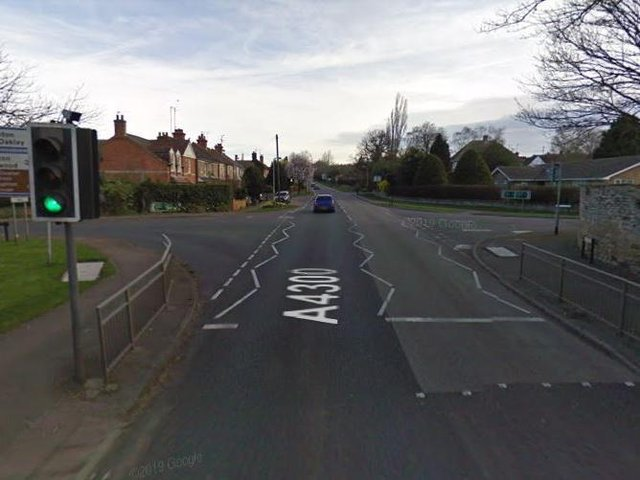 The fatal crash was on the A4300 in Geddington near the crossroads with Newton Road and West Street. Photo: Google