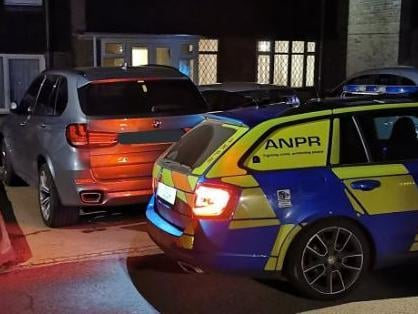 Police located the BMW about 11⁄2 miles away from where it was stolen. Photo @NorthamptonResponse