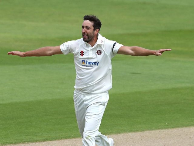 Northants seam bowler Ben Sanderson