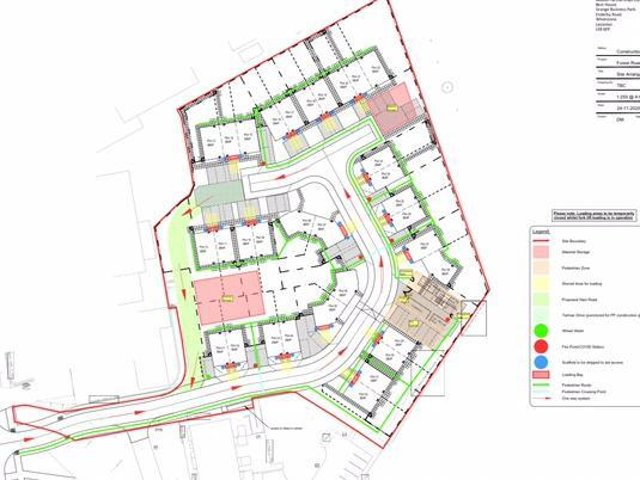 The homes are set for a site between West Glebe Park and Forest Gate Road.