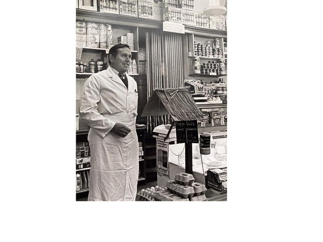 John Cobley in the shop in Dalkeith Place