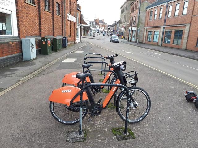 E-bikes in Kettering.