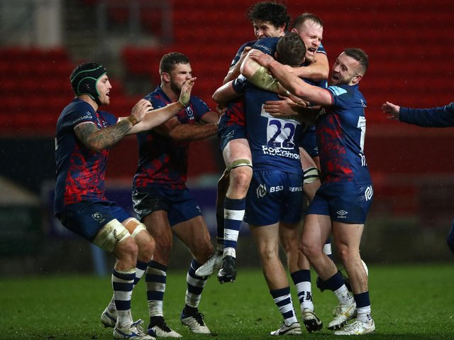 Sam Bedlow slotted a penalty with the final kick of the game as Bristol beat Saints back in December