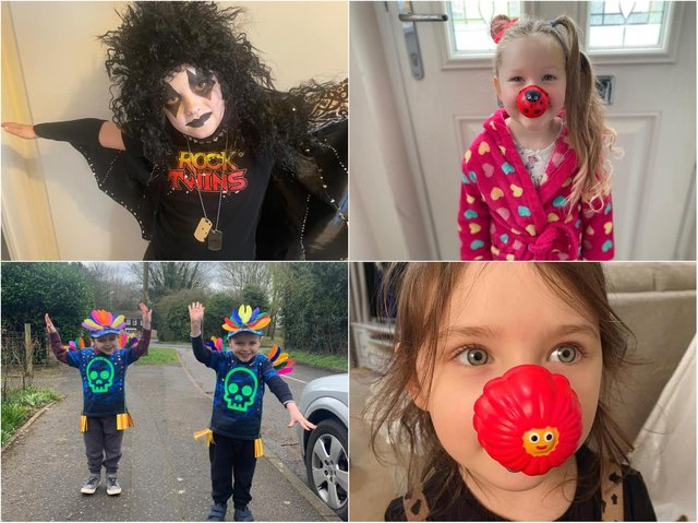 Pupils across Northamptonshire dress up for Red Nose Day.