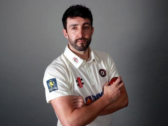 Northants bowler Ben Sanderson