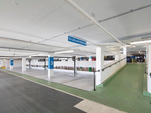 Inside the revamped car park
