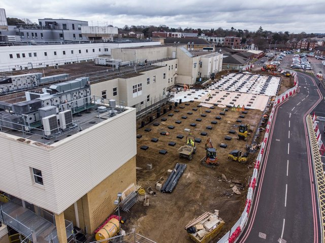 Work is cracking on behind the building site boards on three new developments at Northampton General Hospital