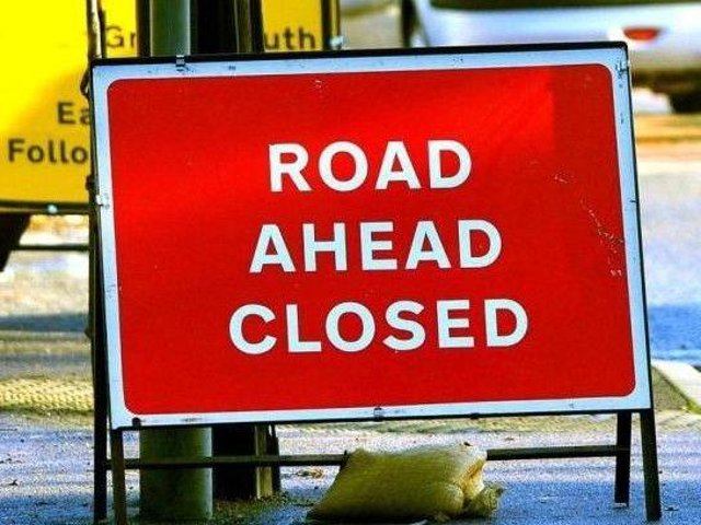 The road closure has been reorganised.