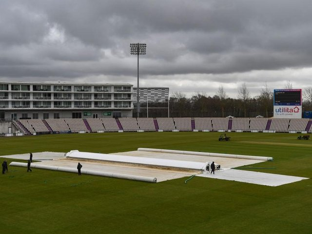 Rain delayed the start of Northants' friendly at Hampshire