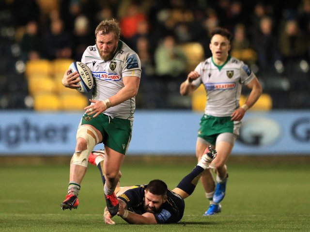 Mike Haywood scored for Saints when they won at Worcester in March last year