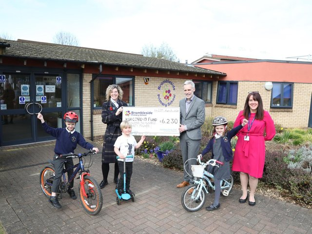 The school handed over a cheque for more than £6,000.
