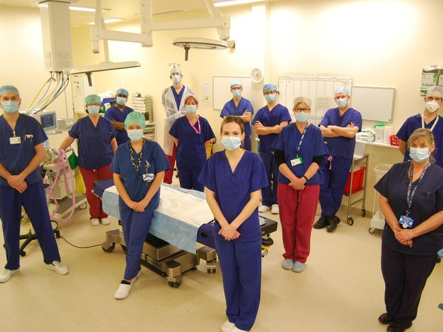 Kettering General Hospital's Urology Team celebrates the launch of a new procedure at the hospital which will offer prostate transperineal biopsy under local anaesthetic and in an outpatients' clinic reducing anxious waiting times for patients.