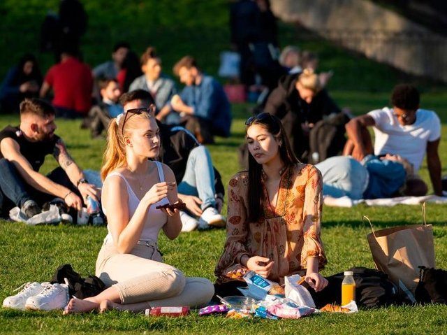 Northamptonshire's parks and open spaces are expected to be even busier tomorrow as termperatures soar. Photo: Getty Images