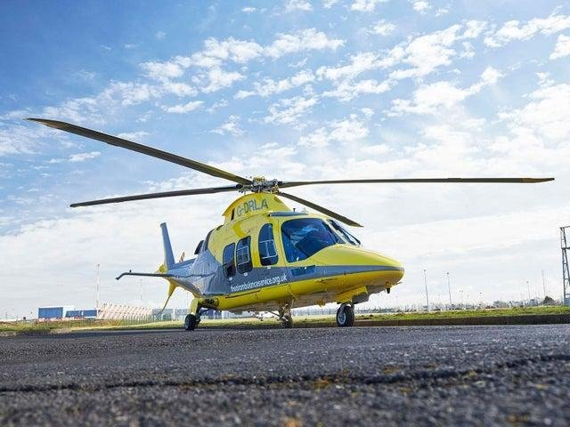 An air ambulance helicopter was scrambled after a car crashed into a tree near Desborough this morning (Monday).