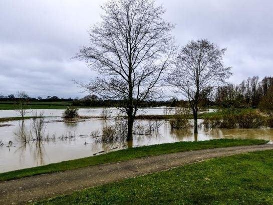 Collingtree Golf Course flooded in 2016. (File picture).