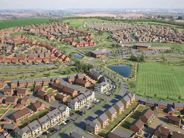 A CGI of how Wellingborough's Glenvale Park will look