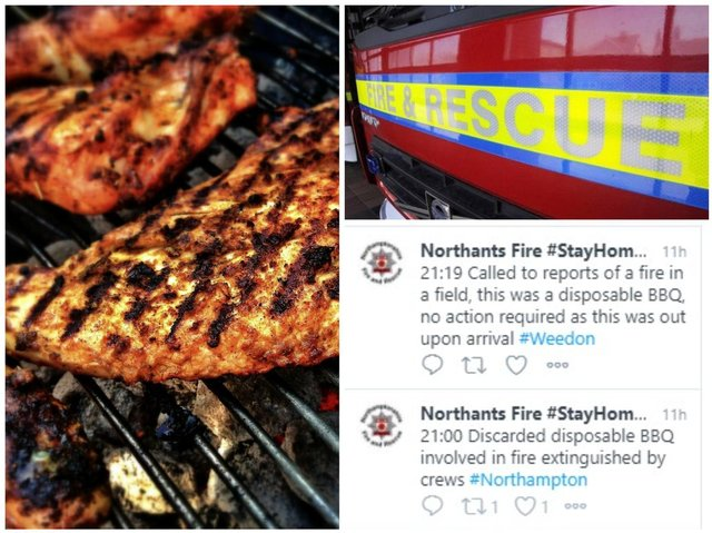 Firefighters issued warnings over barbecue safety as temperatures soar